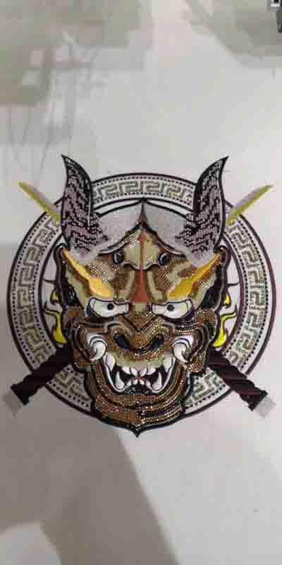 猛虎标志绣