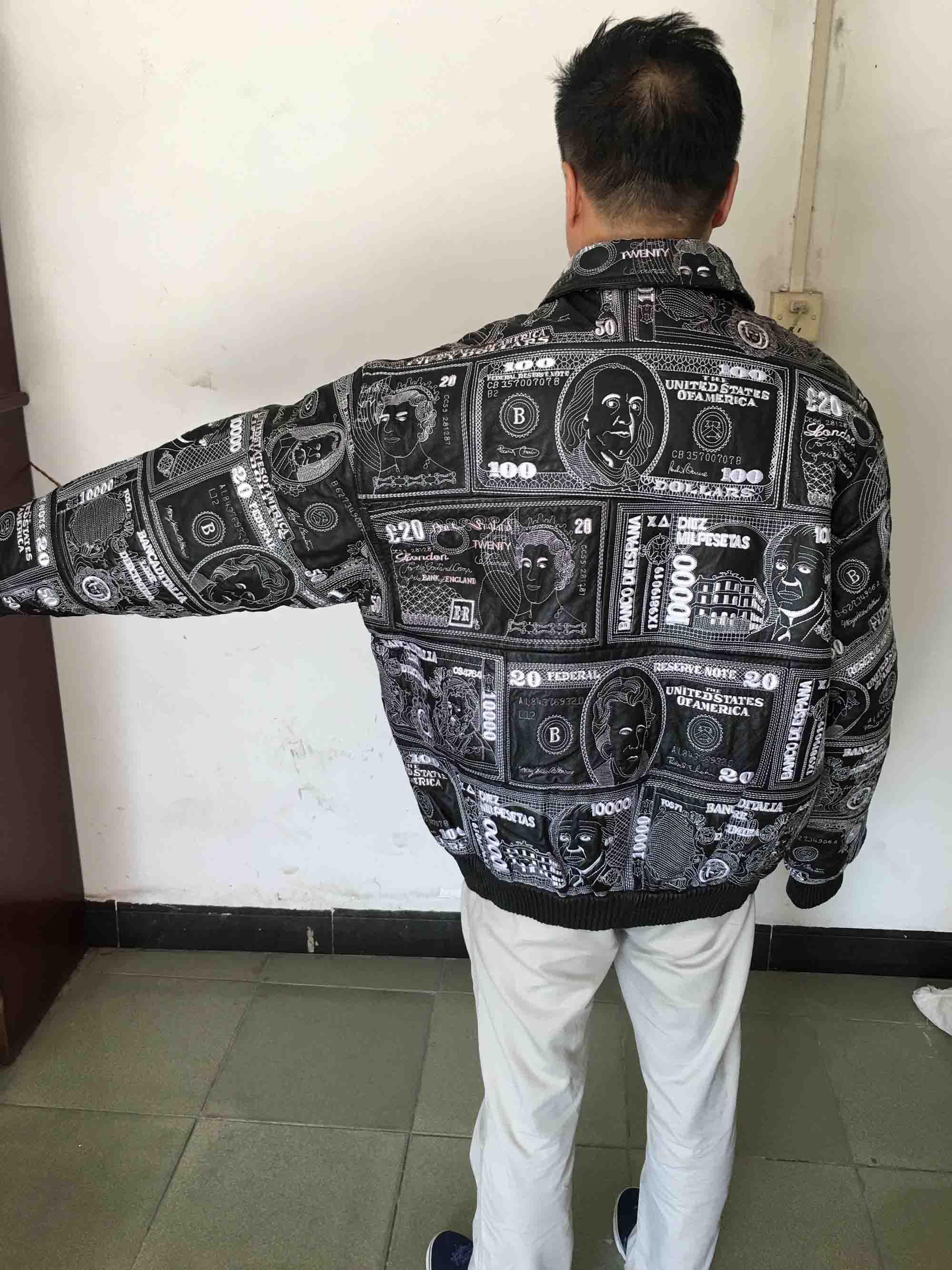 个性人民币刺绣外套