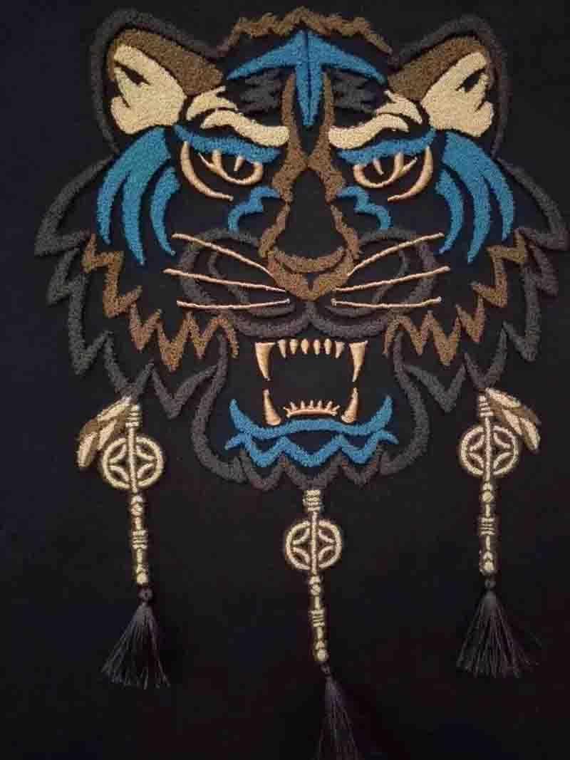 老虎毛巾绣