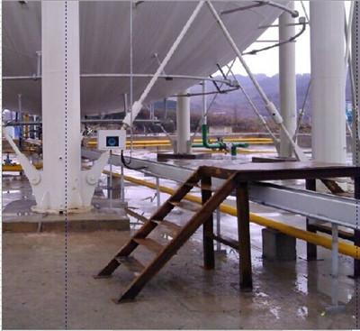 外测式液位计在贵州某化工厂液氨球罐上的使用