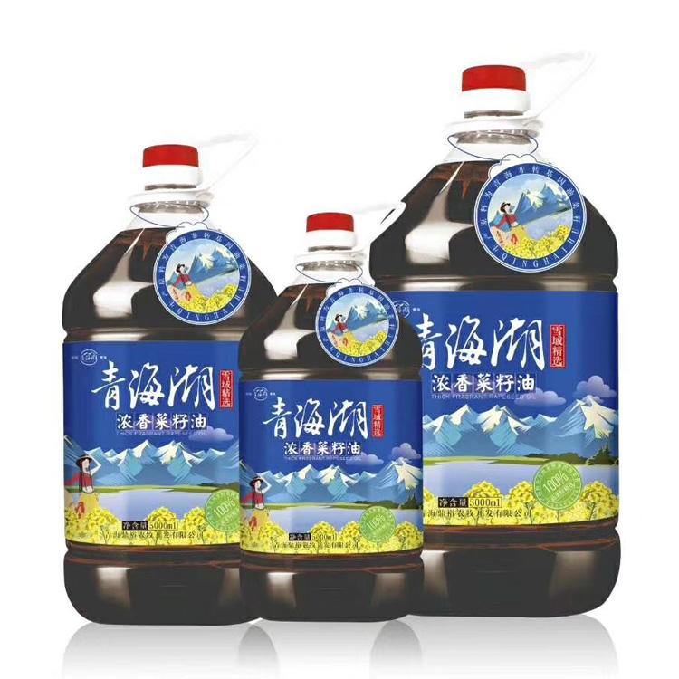 """""""青海湖""""浓香菜籽油,浓香型菜籽油,5LX4,320元;10LX2,230元;20L,220元"""