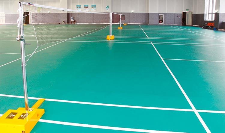 健身中心PVC塑胶地板工程