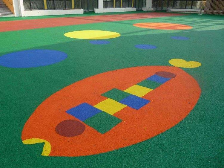 幼儿园塑胶场地板