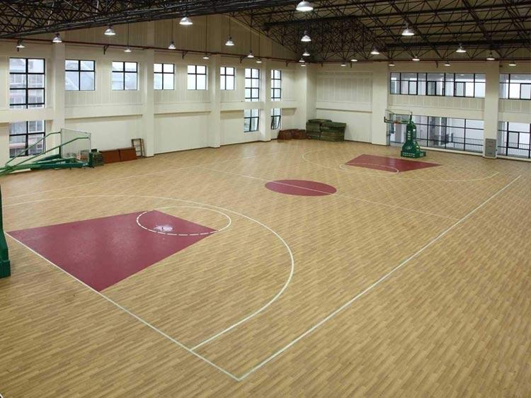 室内篮球场PVC塑胶地板
