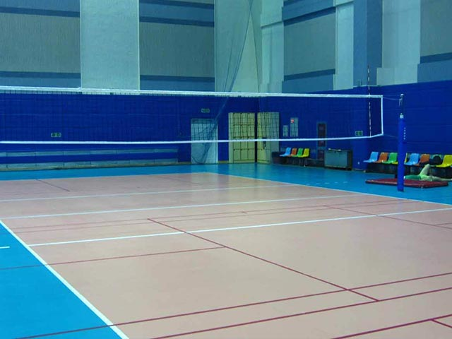 排球场PVC塑胶运动地板
