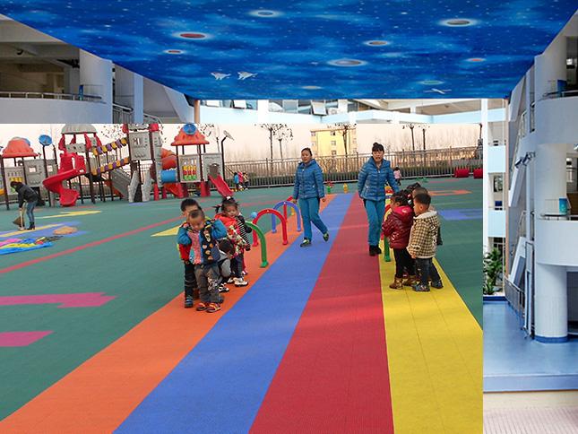 济南乐智幼儿园塑胶地板