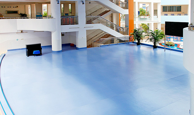 學校教育塑膠地板工程案例