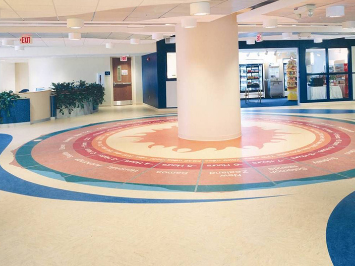 购物中心塑胶地板工程
