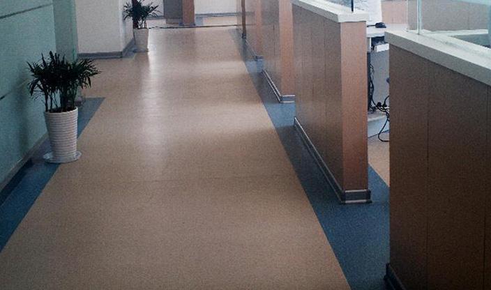 医院用塑胶地板施工效果