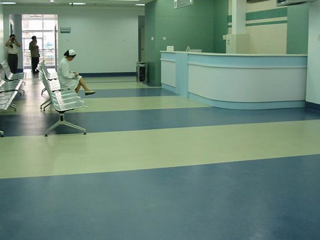 仁爱医院4000平pvc塑胶地板工程案例