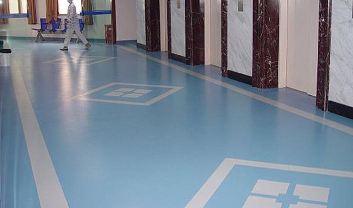医院用塑胶地板施工