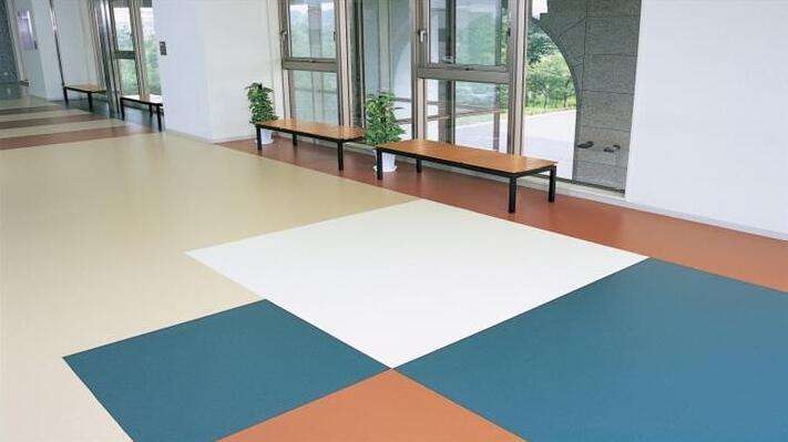 办公室弹性PVC塑胶地板