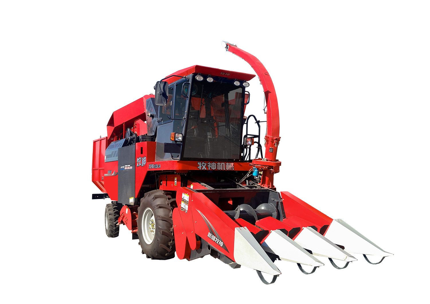 Muyang 4YZB-3A self-propelled panicle harvester