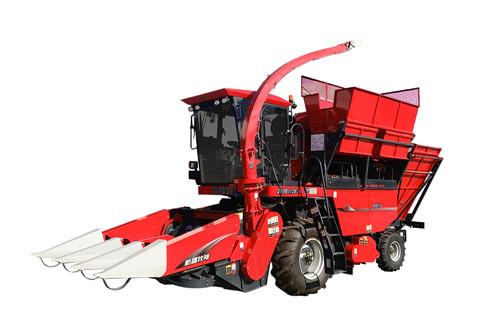 一台顶两台:一次搞定玉米果穗与秸秆收获,这台玉米收获机就是牛