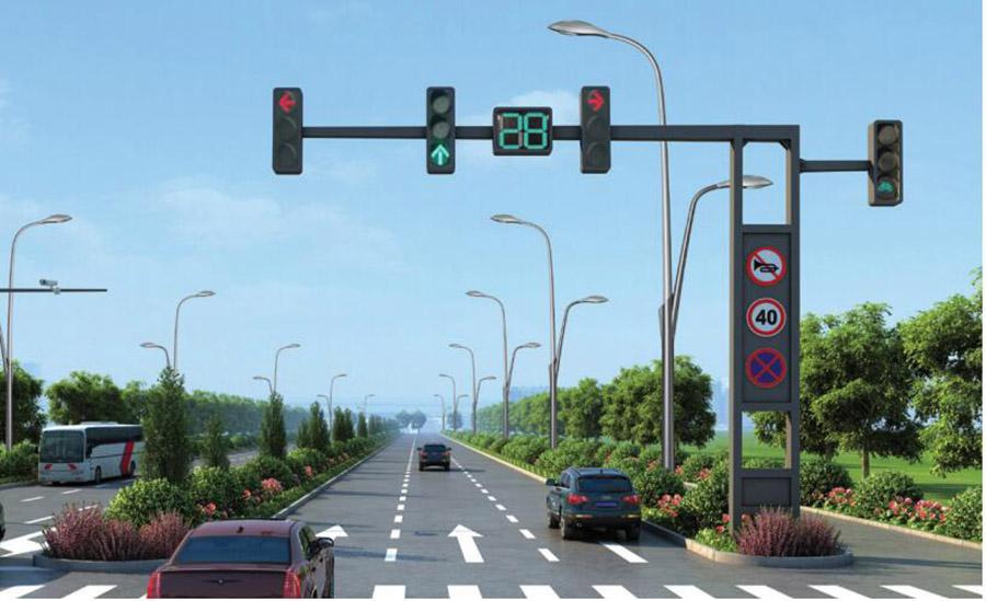 甘肃兰州交通信号灯
