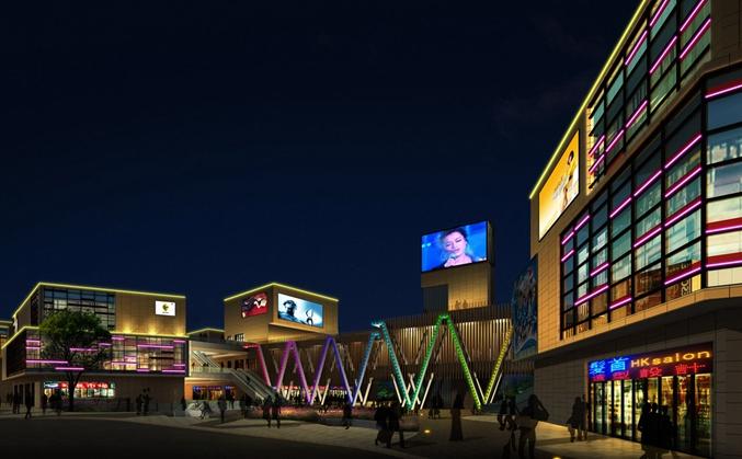 商业广场楼体亮化