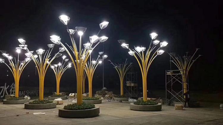 酒泉仁恒国际小区景观亮化工程