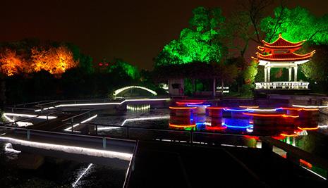夜景亮化工程在公园工程中要如何来进行施工呢?
