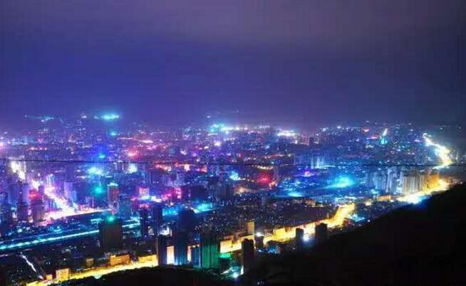 兰州楼体亮化夜景