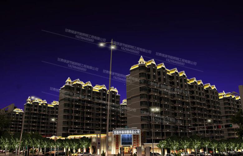 甘肃城市楼体亮化
