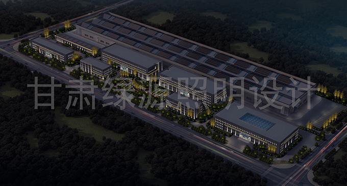 甘肃兰州产业园楼宇亮化