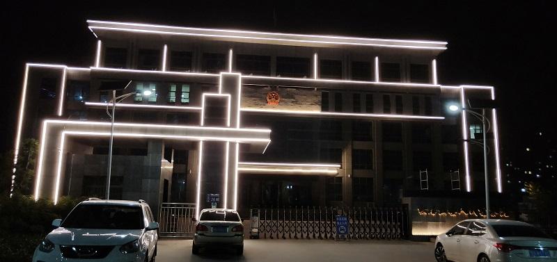 楼宇亮化工程案例:临夏积石山县检察院