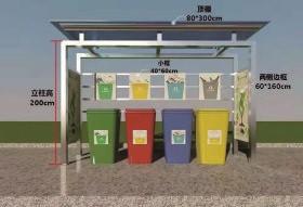 垃圾分类收集亭广告制作