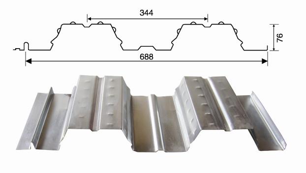 YX76-344-688型楼承板价格  688型承重板厂家 688型楼承板郑州价格