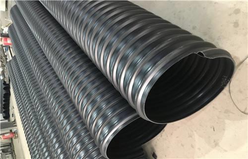 HDPE钢带双壁波纹管