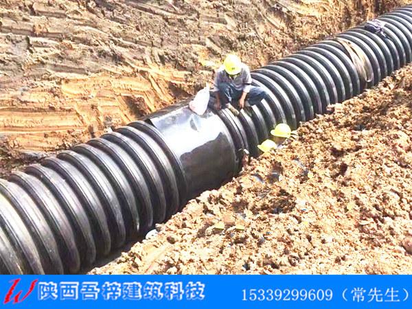 西北阳光城集团双壁波纹管施工案例