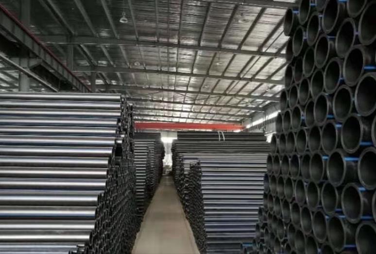 陕西钢丝网骨架管储货库房现场