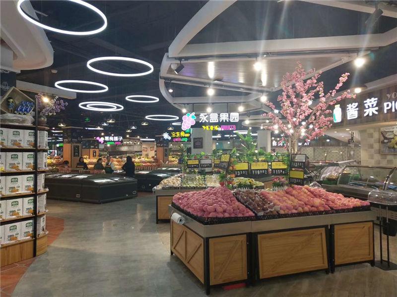 生鲜超市蔬菜水果货架_展示架自由组合
