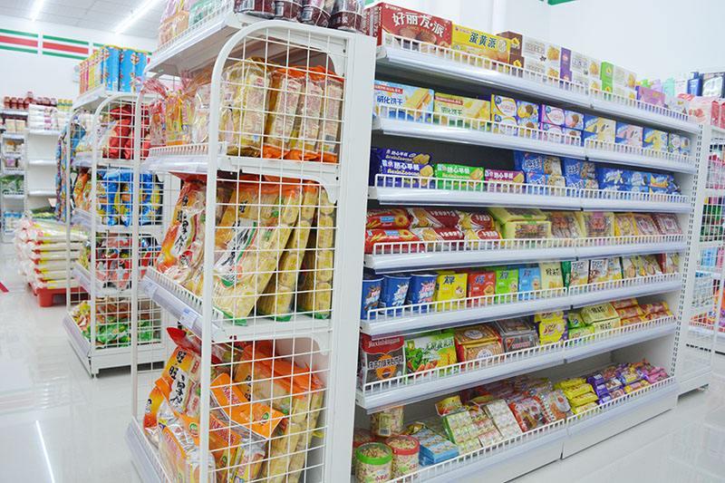 超市货架展示架便利店零食货架
