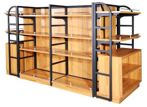 超市货架便利店钢木货架展示架