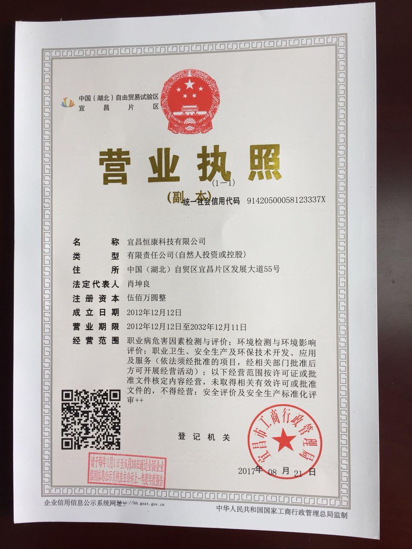 宜昌恒康科技营业执照