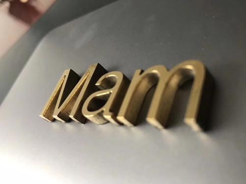 陕西中尧标识为精品镀钛金属字制作安装