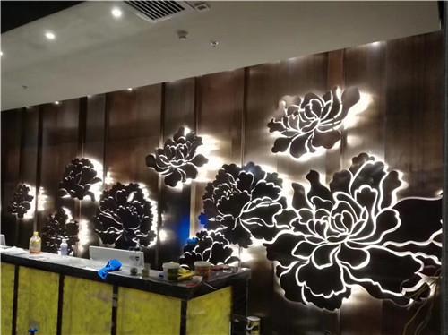 陕西中尧标识为企业集团形象墙背发光设计制作安装