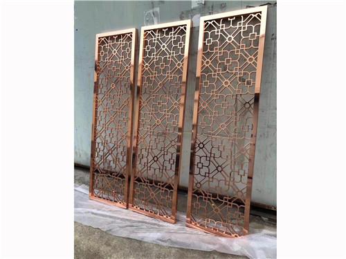 陕西中尧标识不锈钢精工格栅制作安装