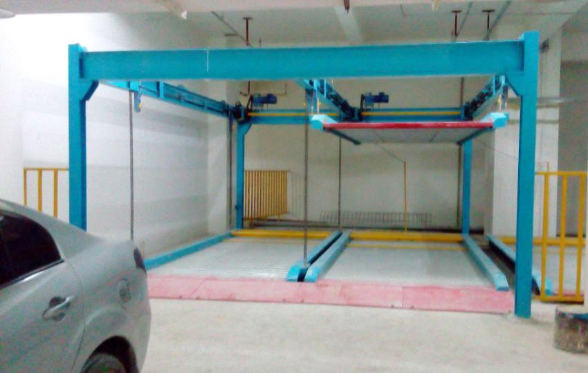 二层升降横移类立体车库项目