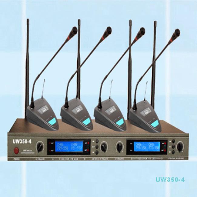 JHS京宏声无线一拖四会议传声器UW350-4