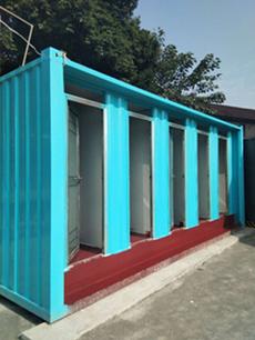 成都集装箱厕所-5位冲凉房