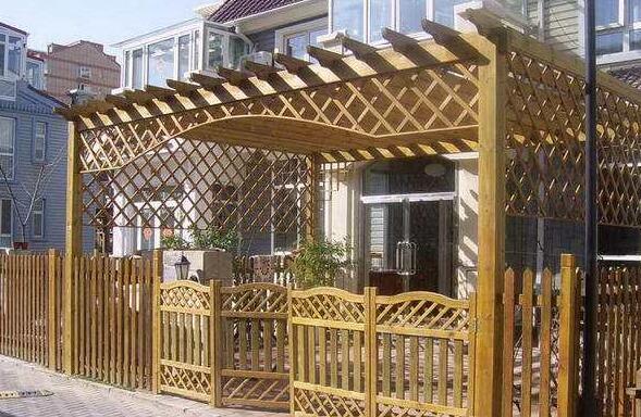 襄阳防腐木庭院木栅栏