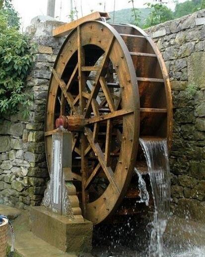 襄阳水风车厂家 公园景区木质水车