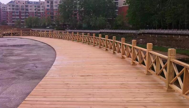 襄阳河边木栈道设计方案