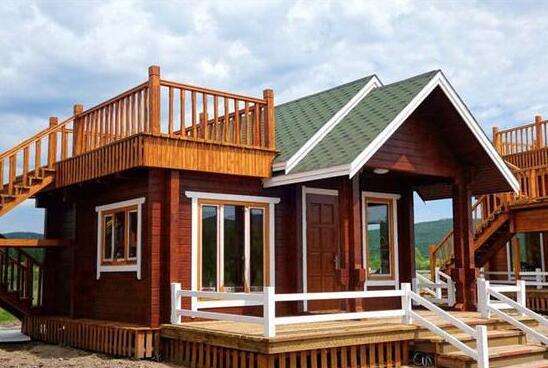 防腐木木屋图