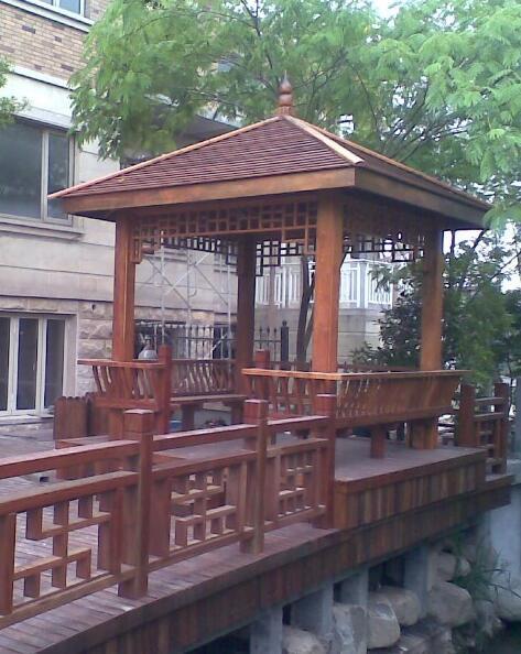 襄阳防腐木景观凉亭