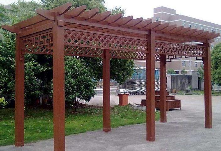 既能绿化又能休息玩耍的防腐木廊架的优势,一定要看看!