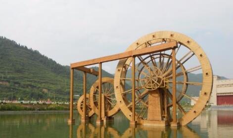 襄阳鑫昌盛防腐木景观水车厂家
