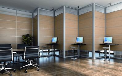 四川办公隔断装修做高隔间高隔墙的优点
