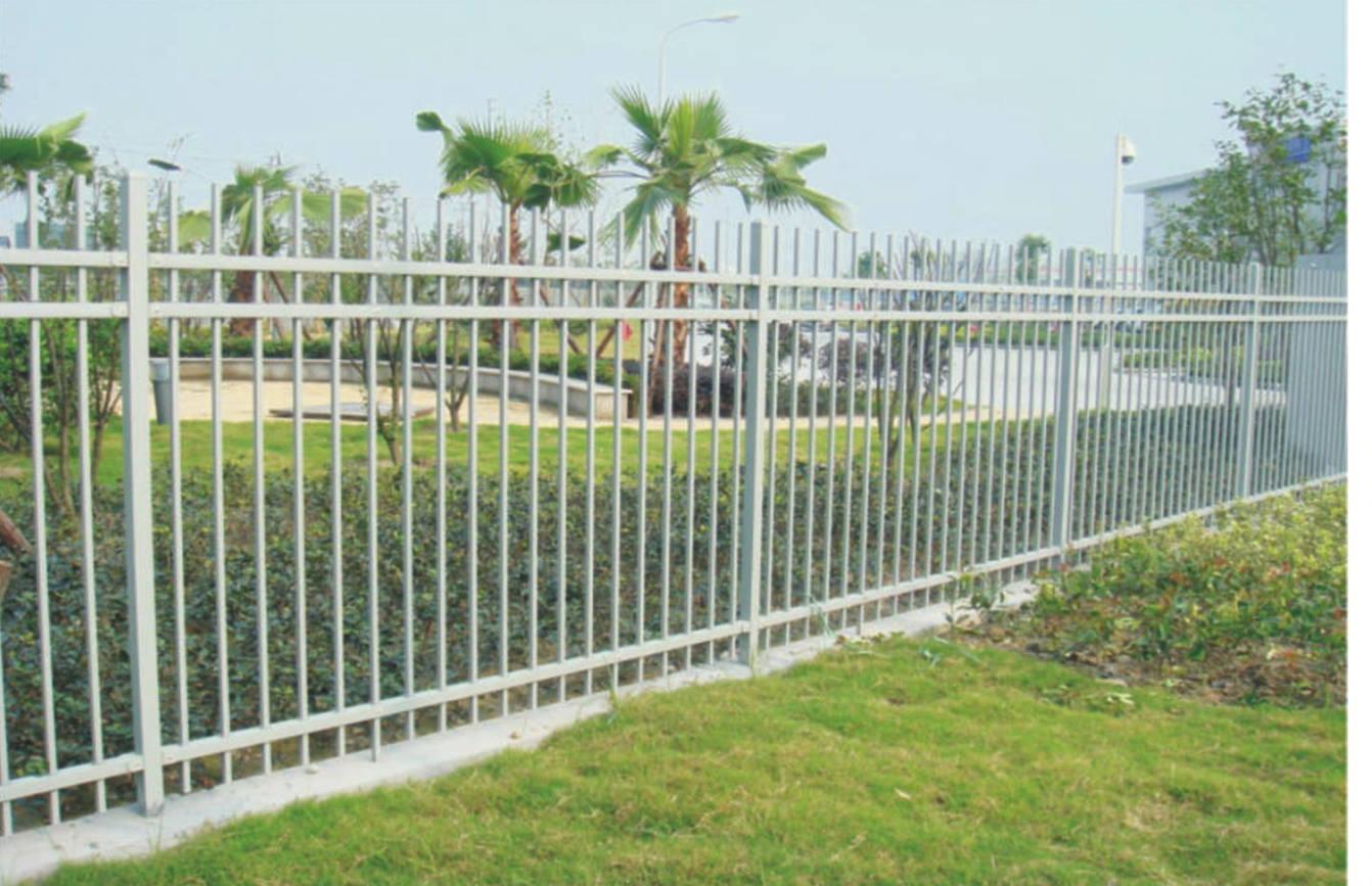 三横杆锌钢喷塑栅栏
